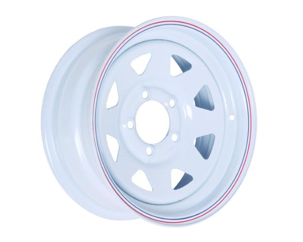 Picture of 14x6 PRO WHITE STEEL RIM 5-114.3, 83.7, 0