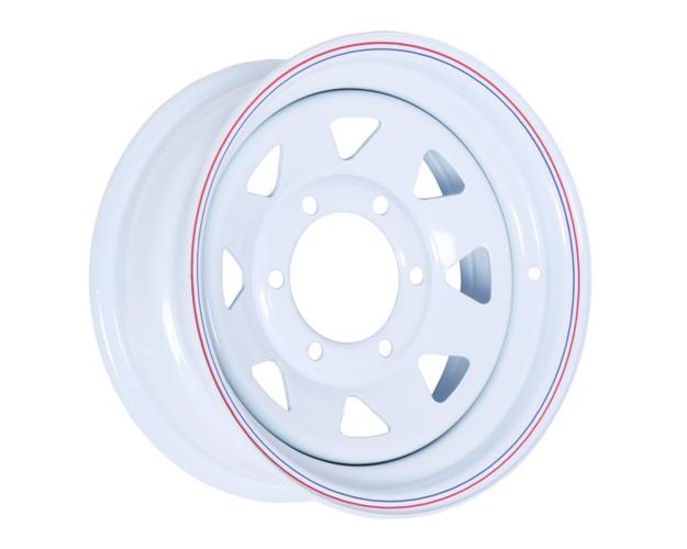 Picture of 14x6 PRO WHITE STEEL RIM 6-139.7, 108.7, 0