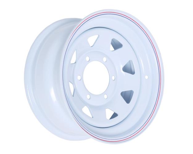 Picture of 15x7 PRO WHITE STEEL RIM 6-139.7, 108.70, 0